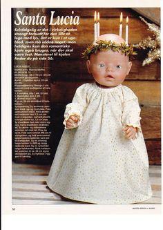 Album Archive - Dukketøj til Baby Born 2 - Ingelise Pixie, Baby Born Clothes, Doll Dress Patterns, Santa Lucia, Doll Accessories, Baby Dolls, Flower Girl Dresses, Barbie, Album