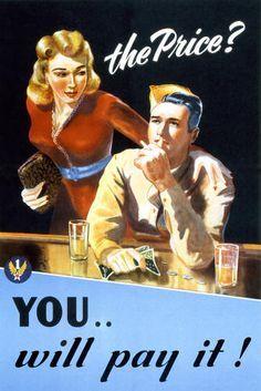 Risultati immagini per venereal disease posters ww2