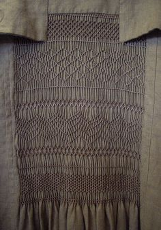 Smocking: Reproduction of a smocked farmer's coat, at the Museum of English Rural Life __ from post by designbyclaire on Flickr