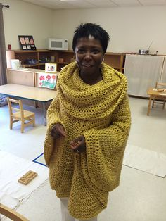 Ravelry: crazyyarngirl's Golden Cowl Poncho (Day into Night Poncho @ Lion Brand)