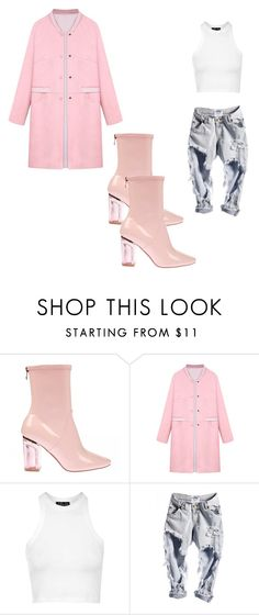 """""""Casual Cuttie✨"""" by bre301 ❤ liked on Polyvore featuring WithChic and Topshop"""