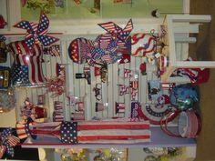 Patriotic Display! #burtonandburton #patriotic
