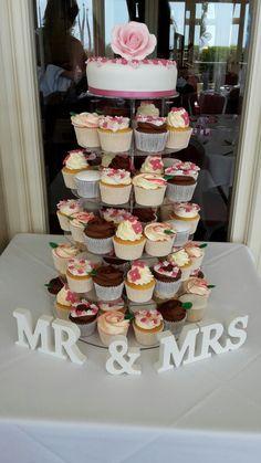 Wedding cupcake tower   Saucy Sue\'s cupcakes   Pinterest   Wedding ...