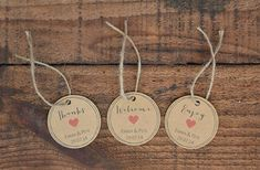 Thanks, Welcome & Enjoy Wedding Favour Tags ~ PDF