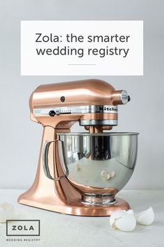 Copper Kitchen Aid mixer is a wedding registry must! Copper Kitchen Aid, Kitchen Aid Mixer, Kitchen Appliances, Kitchens, Kitchen Gadgets, Kitchen Tools, Kitchen Robot, Copper Appliances, Wolf Appliances