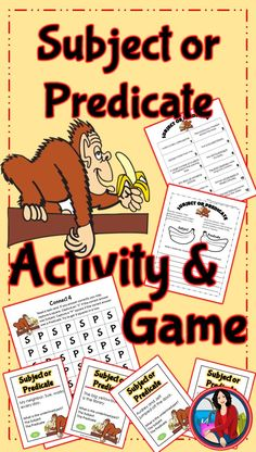 Subject and Predicate: Two great Subject and Predicate resources to give your students lots of practice. A Subject Predicate activity that can be projected on the board and used as a whole class activity or use it as a center/station activity during guide Class Activities, Activity Games, Subject Predicate Activities, 5th Grade Writing, Simple Subject, Guided Reading, Task Cards, Fun Learning, English Language