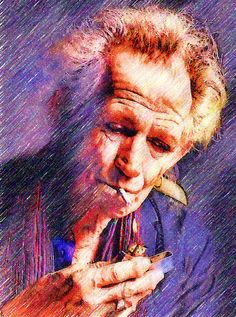 Keith Richards in art....