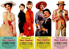 Mary Poppins poster door panels, 1964