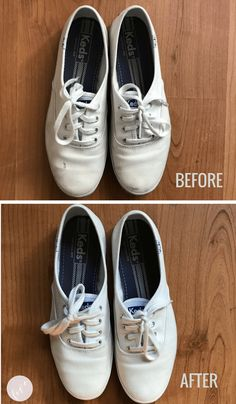 7b348886f97d5c How to clean white canvas shoes with baking soda