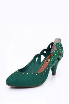 Scarpin Salto Médio 4106869 Verde Escuro | Dumond Calçados - 800012686673