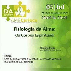 AME Carioca Convida para a sua Palestra Pública - Botafogo - RJ - http://www.agendaespiritabrasil.com.br/2016/07/05/ame-carioca-convida-para-sua-palestra-publica-botafogo-rj/