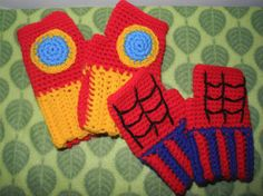Can someone who crochets please make me this fingerless Iron Man mittens???
