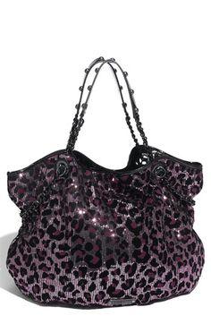 i would like a dress made out this purple, shiny leopard print fabric.