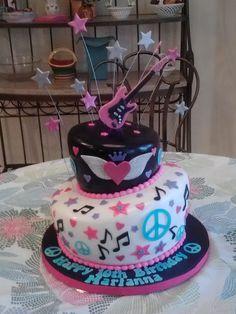 rockstar birthday cakes | In: rock star cake in album: Children's Birthday Cakes Music Birthday Cakes, Music Cakes, Birthday Cake Girls, Birthday Ideas, Violetta Cake, Rock Star Cakes, Bolo Musical, Pop Star Party, Rockstar Birthday