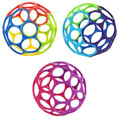 So easy for baby to hold early on, and a fun ball for older babies too. Easy to hang in a play gym. We have two classic balls and one rattle ball. Cloth Diapers, Natural Parenting, Baby Rattle, Pink Turquoise, Holiday Wishes, Baby Store, Baby Registry, Montessori Baby, Colors