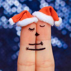 Finger art of a Happy couple. Couple kissing and hugging in the new year hats. Cute Love Quotes, True Love Qoutes, Love Quotes Poetry, Love Picture Quotes, Love Husband Quotes, Qoutes About Love, Romantic Love Quotes, Romantic Dp, True Quotes