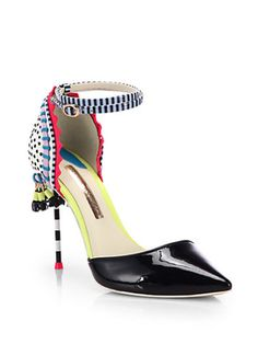Sophia Webster - Xavier Leather Mixed-Media d'Orsay Pumps
