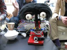 Robot Romek with new haircut, Wrocław University of Technology