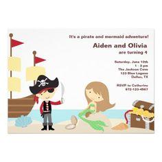 Convites do pirata e da sereia