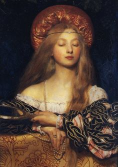"""fakingfashion: """" i am in symbolism lecture class so i am ging to post some pre raphaelite saccharine beautiesssss Frank Cadogan Cowper Vanity, 1907 """" Hell Yes Art History approves of posting art. Pre Raphaelite Paintings, Edward Burne Jones, Royal Academy Of Arts, Fine Art, Renaissance Art, Italian Renaissance, Renaissance Paintings, Art Plastique, Beautiful Paintings"""