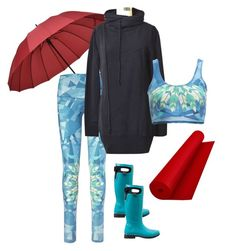 rainy day essentials by sacredempire on Polyvore featuring teeki, Bogs and DragonFly Yoga