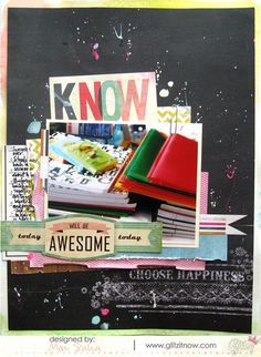 This fun back to school layout was created with products used from the Glitz Design collections. Designed by Muo Saha.