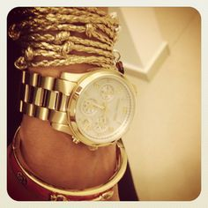 watch and bracelets combo
