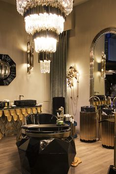 The luxurious and gorgeous LUXXU stand at Maison et Objet Paris September Edition. Feel inspired: www.luxxu.net   #interiordesign #luxurydesign #lightingdesign