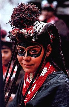 Portrait of a Kalash girl | Image scanned from an old National Geographic
