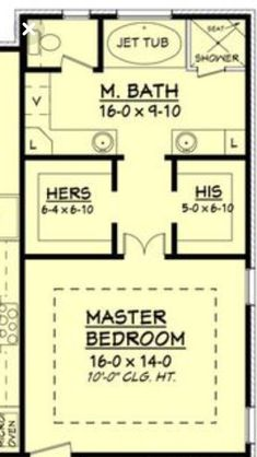 Ooh, nice layout for upstairs loft. Only, I would put a small bathroom opposite . - - Ooh, nice layout for upstairs loft. Only, I would put a small bathroom opposite . Master Bedroom Addition, Master Bedroom Plans, Master Bedroom Bathroom, Master Closet, Closet Bedroom, Bath Room, Closet Space, Bath Tub, Bedroom Bed