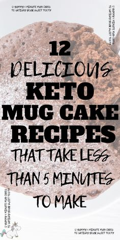 These keto mug cakes will help you stay in ketosis & satisfy your sweet tooth easily with recipes from keto cinnamon roll mug cake to keto vanilla mug cake! Low Carb Lunch, Low Carb Dinner Recipes, Healthy Dessert Recipes, Cake Recipes, Keto Recipes, Keto Desserts, Salad Recipes, Delicious Desserts, Low Carb Zucchini Fries