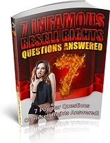 7 Infamous Resell Rights Questions Ebooks with Private Label Rights (GOLD Membership) E Books, Question And Answer, This Or That Questions, Source Documents, My Market, Squeeze Page, Private Label, Word Doc, New Opportunities