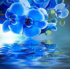 Shower blessings on others