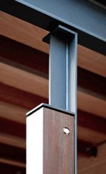 Timber and Steel Column