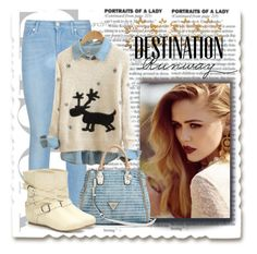 """Winter Look"" by aa-fashion-girls ❤ liked on Polyvore featuring 7 For All Mankind, GUESS, Wild Diva and Bebe"