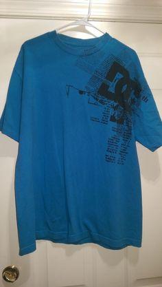 DC Men's Blue/Black DC Design T-Shirt Size XL #DC #GraphicTee