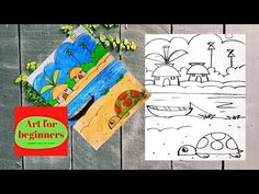 Drawing Videos For Kids, Beginner Art, Scenery, The Creator, Drawings, Beauty, Landscape, Sketches, Paisajes