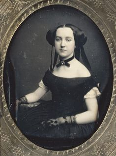 Early Victorian daguerreotype portrait of a woman, ca 1850 by gladys