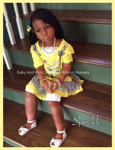 AA reborn toddler girl Ethnic child by BabyandKidsUnlimited By Diyanu - African Plus Size Clothing at D'IYANU Reborn Child, Bb Reborn, Reborn Toddler Girl, Silicone Reborn Babies, Reborn Dolls, African American Baby Dolls, African American Actors, African Americans, American History