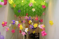 Indoor Enchanted Forest Ceiling Decor. This is really inventive and fun.