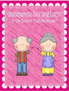 "These are song lyrics I wrote for my kindergartners to sing to their grandparents on Grandparents Day.  They are to the tune of ""Call Me, Maybe"".  I downloaded the karaoke version of this song from itunes so the kids could sing along to the music using these lyrics."