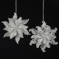 ACRYLIC #SILVER GLITTER #SNOWFLAKEORNAMENTS ITEM # T1000S #christmasornaments