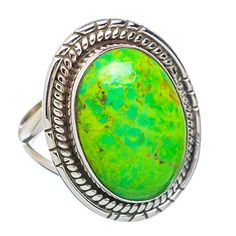 Ana Silver Co Green Copper Composite Turquoise 925 Sterling Silver Ring Size M 1/2 Ana Silver Co. http://www.amazon.co.uk/dp/B01023IPR4/ref=cm_sw_r_pi_dp_s8gJvb1QQS4MW
