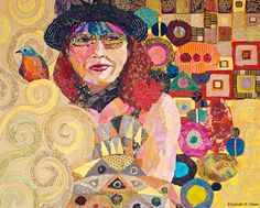 Self Portrait as Adele Bloch-Bauer with Painted Bunting
