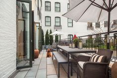 <p>The listing also includes another New York real estate anomaly: outdoor living space. A 48-foot long terrace faces the luxury building's interior courtyard.</p>