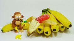 ToyCheff Make Strange Jelly Banana with monkey animation cook play toy 신...