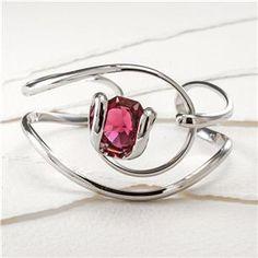 Bellino Bracelet with Swarovski Crystal Octagon | Rhodium Bellini Cocktail, Swarovski Crystals, Heart Ring, Bracelets, Rings, Jewelry, Style, Swag, Jewlery