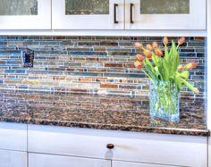 Slate and Glass Mosaic Backsplash (Cultivate.com)