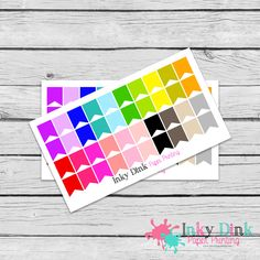 New to InkyDinkPrinting on Etsy: 40 Rainbow Wide Flags Half Sheet Planner Stickers Erin Condren Happy Planner Plum Planner Sticker Sampler EC Life Planner Limelife HS-09 (2.75 USD)