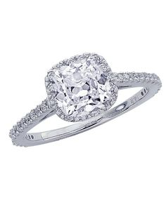 1.36 Carat GIA Certified Cushion Cut / Shape Gorgeous Classic Cushion Halo Style Diamond Engagement Ring